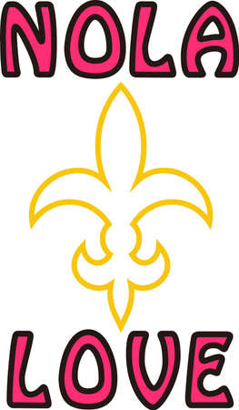 flair: This lovely fleur de lis is a fun symbol with its stylized flair.  Display your special style with this design on apparel and travel bags.