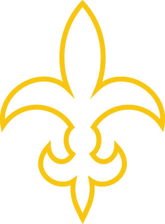 orleans symbol: This lovely fleur de lis is a fun symbol with its stylized flair.  Display your special style with this design on apparel and travel bags.