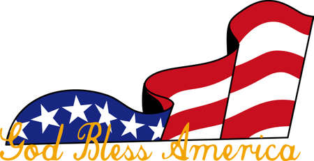 script writing: An artistic sliver of a flag carries a message fit for any patriotic celebration.  Great tee shirt art.