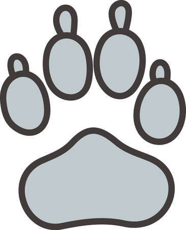 try: This paw is a popular mascot symbol for teams everywhere!  Try it on some special team gear that is sure to be a hit.