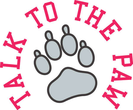 sure: This paw is a popular mascot symbol for teams everywhere!  Try it on some special team gear that is sure to be a hit.