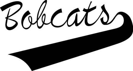 lince rojo: Muestra un poco de esp�ritu Bobcat con el desgaste esp�ritu que muestran este logo deportivo. Grande para los cortes de vinilo o costuras.