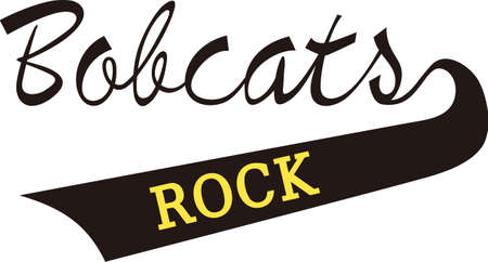 bobcat: Show some Bobcat spirit with spirit wear displaying this sporting logo.  Great for vinyl cuts or stitching.