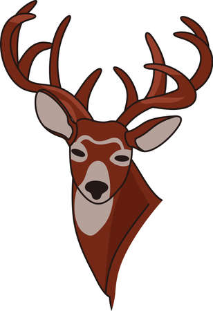 Trophy bucks are hard to find yet we have found the perfect whitetail for you.  Love it on throw pillows and man cave dcor!