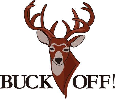 Trophy bucks zijn moeilijk nog te vinden we hebben de perfecte whitetail voor u gevonden. Hou het op kussens en manhol decor! Stock Illustratie