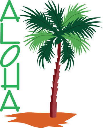 says: Nothing says tropical quite like an exotic palm.  Add a touch of the islands to special projects with this lovely tree.  Love it on bath towels!