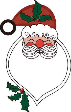 kris kringle: Our Santa applique is something special indeed!  Applique he beard in a flocked fabric for an amazing creation!