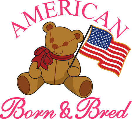tee shirt: Keep it sweet and cuddly on July 4 with this flag waving bear!  Great tee shirt art for the little ones.
