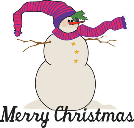 ユニークな休日の魅惑は降雪と着いた。 この装飾された特別なホリーの雪だるまは、休日アパレルを飾るに最適です。 写真素材 - 51207194