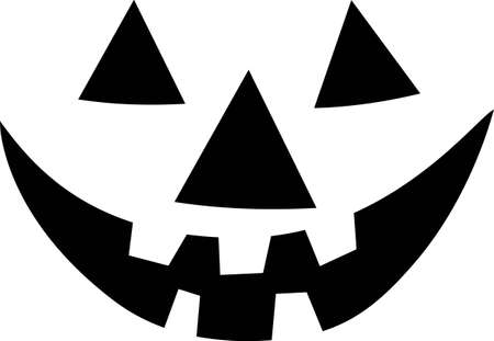 Manchmal braucht man nur die Umrisse das ganze Bild zu bekommen! Unsere Jack-O-Laterne Gesicht sagt Happy Halloween, wo Sie es angezeigt werden soll.