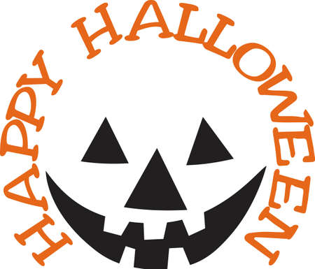 says: Sometimes you only need the outline to get the entire picture!  Our jack-o-lantern face says Happy Halloween wherever you display it.