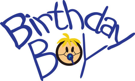 Its a boy.  Welcome the brand new boy with gifts decorated with this fun and whimsical graphic.