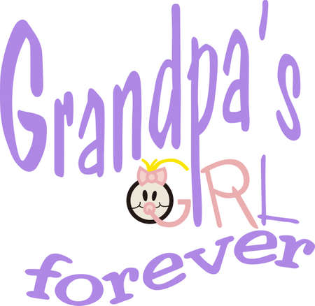 grandparent: Its a girl.  Welcome the sweet little girl with gifts decorated with this fun and whimsical graphic. Illustration