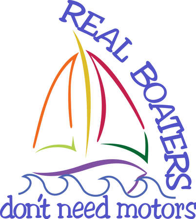 Sail boats are the best boats!  Create a sailor jacket that proudly proclaims the skill of a sailor.