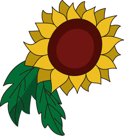 This big sunflower adds its own kind of sunshine to the garden.  It is a perfect decoration for a garden flag.