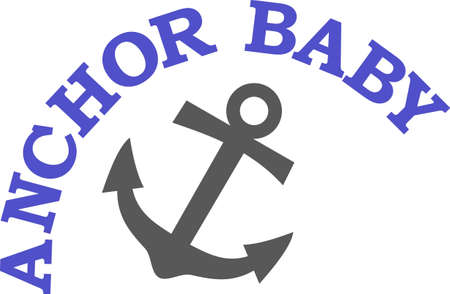 Anchors away!  This anchor makes an eye catching nautical creation for the boating crowd.  Perfect for boat dcor! Banco de Imagens - 51207697