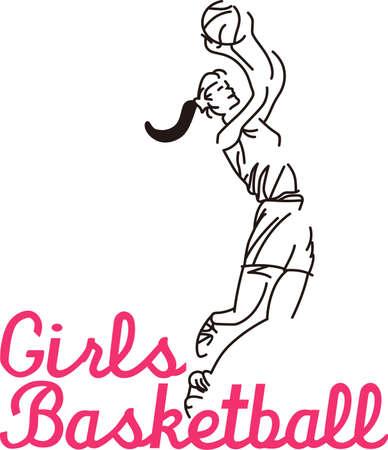 Encouragez les filles à la victoire dans un jour de jeu porter avec notre joueur étoile! Ce dessin de ligne est un clin d'oeil à point et fait une impression saisissante. Banque d'images - 51207838