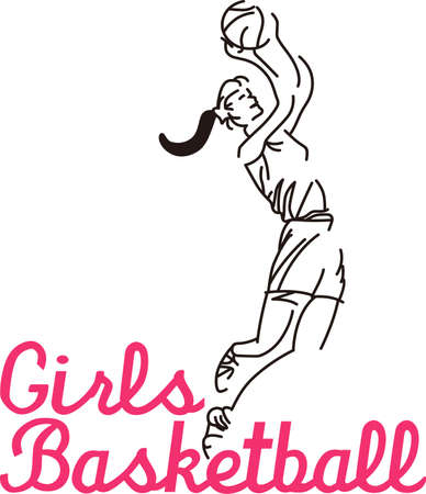 Cheer the girls to victory in some game day wear featuring our star player!  This line drawing is a snap to stitch and makes a striking impression.