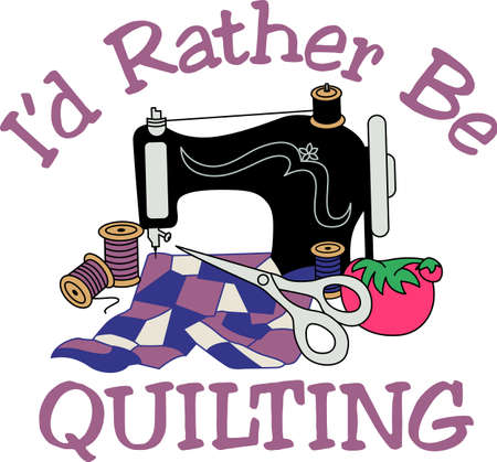 sew: A vintage sewing machine turns out lovely treasures.  For quilters or sewers, a lovely decoration for a notion box.