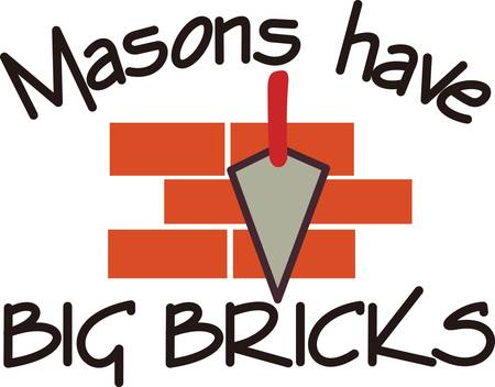 From stones to bricks, you have to have a talented mason to make it all come together.  Create a business card or put this art on a shirt.  Perfect fit for the mason.