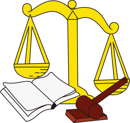ceremonial: The Scales of Justice are tipped in the favor of a great design for attorneys and paralegals.  Great shirt and jacket art or perfect in print for business cards.