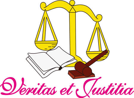 The Scales of Justice are tipped in the favor of a great design for attorneys and paralegals.  Great shirt and jacket art or perfect in print for business cards.