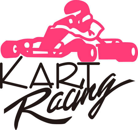formula one racing: This is not your ordinary racer but a go cart racer!  Create something super fun like a lunch cooler decorated with this kart racer silhouette.