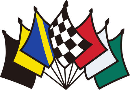 The true race fan knows each flag carries an important message.  It's a special kind of language that is also a brilliant apparel decoration for race day.