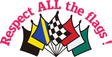 knows: The true race fan knows each flag carries an important message.  Its a special kind of language that is also a brilliant apparel decoration for race day.