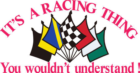 The true race fan knows each flag carries an important message.  Its a special kind of language that is also a brilliant apparel decoration for race day.