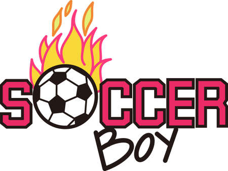 Soccer is an active sport taking years to master.  Add this image to a towel for your favorite player.  They will love it! Çizim