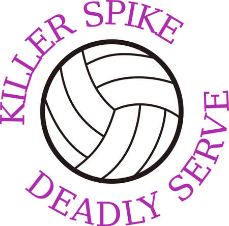 Volleyball is an active sport taking years to master.  Add this image to a towel for your favorite player.  They will love it!