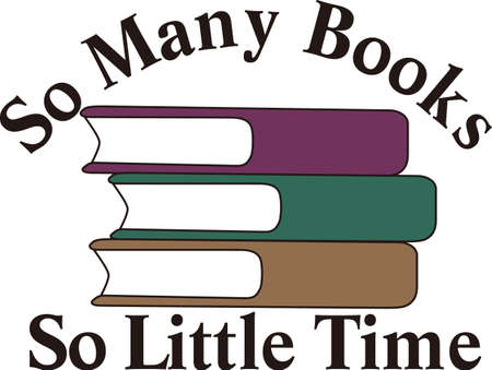 arrange: Make a poster promoting your library or a shirt for a favorite librarian.  Perfect to promote the library and reading. Illustration