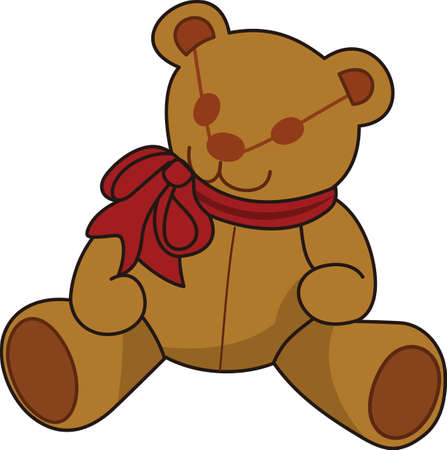 cuddly: Our adorable teddy is a favorite for special occasion baby gear.  Decorated with a big bow, he is a cuddly companion.