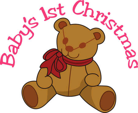stuffed animal: Our adorable teddy is a favorite for special occasion baby gear.  Decorated with a big bow, he is a cuddly companion.