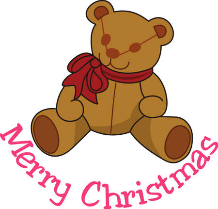 Our adorable teddy is a favorite for special occasion baby gear.  Decorated with a big bow, he is a cuddly companion.