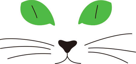 A kitty face with big green eyes is a sure fire fav for any cat lover.  Create a jacket or a throw pillow - great gift idea. Ilustração