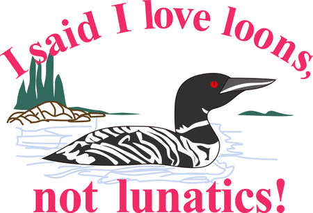 exception: Nothing is more lovely on your projects than nature and this regal loon is no exception.  Try it on camping gear.