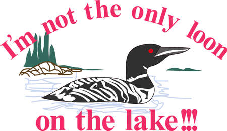 Nothing is more lovely on your projects than nature and this regal loon is no exception.  Try it on camping gear.