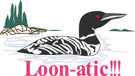 seabird: Nothing is more lovely on your projects than nature and this regal loon is no exception.  Try it on camping gear.