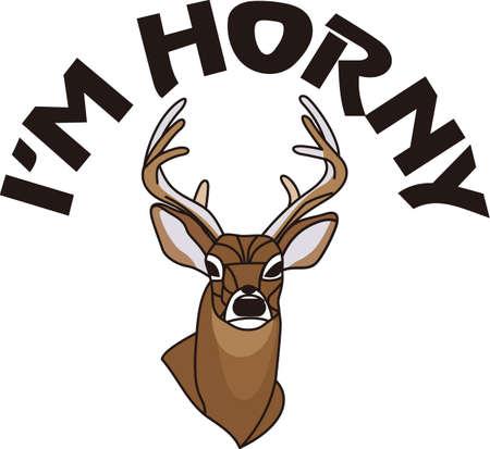 Ein Preis Buck ist ein Jäger Ehrenabzeichen. Geben Sie Ihrem Jäger einen wertvollen Besitz mit diesem reizenden Entwurf auf einem Jäger Mantel oder Hemd. Standard-Bild - 51208698