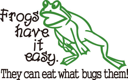 try: Our frog outline is ready to leap onto your creative projects.  Try him on boys backpacks, shirts the outline design makes this design super simple to stitch.