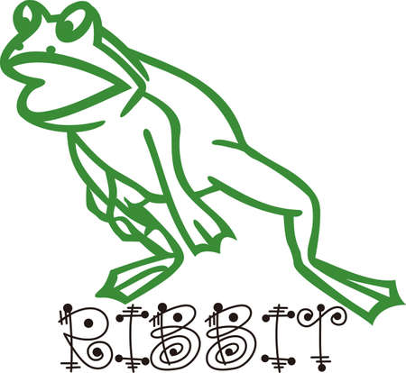froggy: Our frog outline is ready to leap onto your creative projects.  Try him on boys backpacks, shirts the outline design makes this design super simple to stitch.