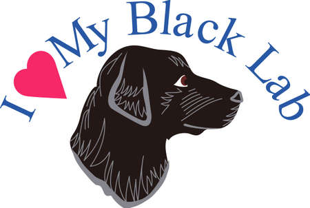 companion: This black lab is a favorite for dog lovers everywhere.  This loyal companion is a lovely decoration on shirts, jackets or home dcor items.