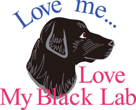This black lab is a favorite for dog lovers everywhere.  This loyal companion is a lovely decoration on shirts, jackets or home dcor items.