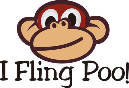 wherever: Need to create something sure to make a smile - weve got a happy face for you!  Our smiling monkey face s sure to be a hit wherever it is used. Illustration