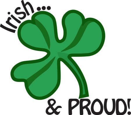 It's not just a clover, it's a special Irish token!  Celebrate the day when everyone's Irish with this bright green shamrock. Stock Vector - 51209134