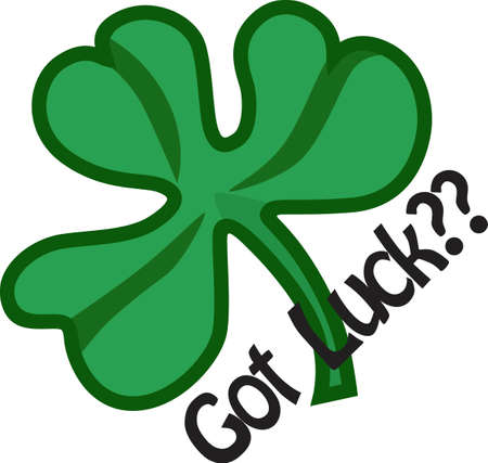 Its not just a clover, its a special Irish token!  Celebrate the day when everyones Irish with this bright green shamrock. Çizim