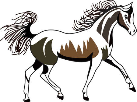 exceptional: Horses are a thing of beauty and Arabians are a thing of exceptional beauty.  We love this lovely equine on riding jackets or a saddle blanket.