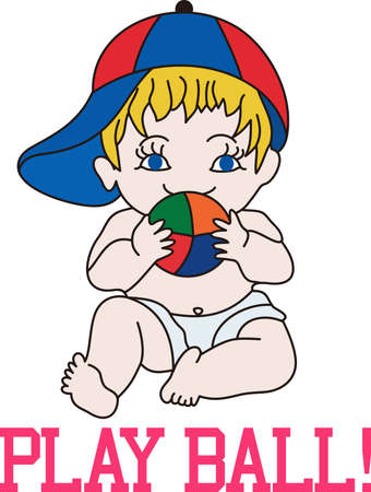 burp: This little baby and his toy ball is one of the cutest baby designs ever.  It is just a classic on a bib or burp cloth!